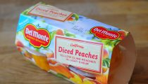 Easy Bellini with Del Monte Fruit Cups