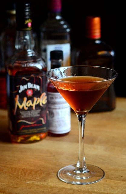 Maple Manhattan Cocktail
