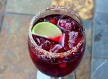 Hibiscus Margarita with Spiced Salt