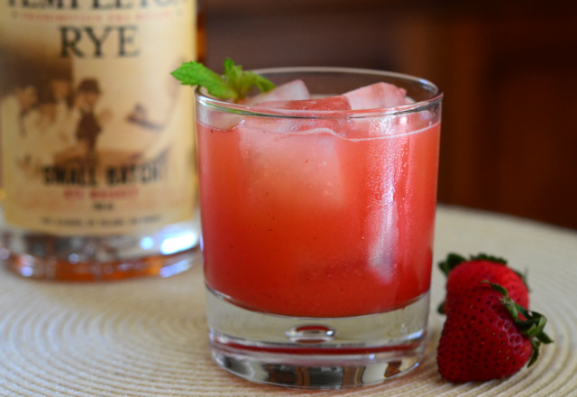 Strawberry Fields Rye Cocktail