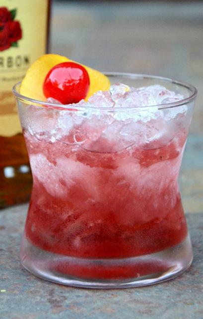 Bourbon Cherry Swizzle