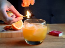 Orange Whiskey Smash