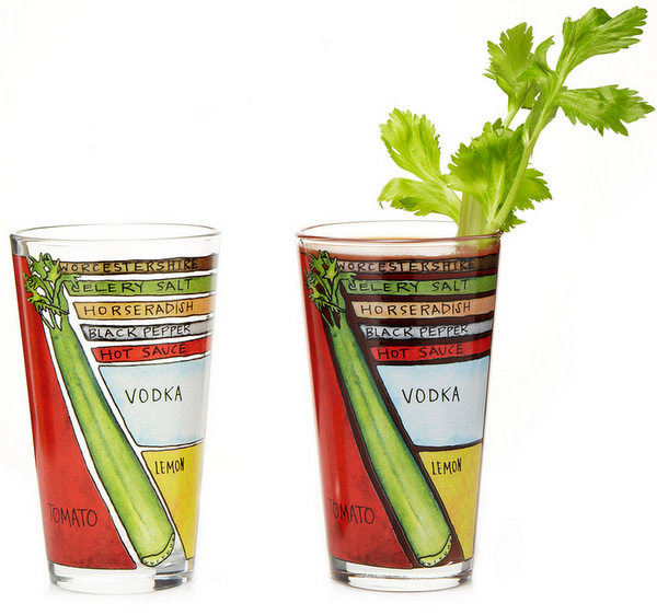 Bloody Mary Diagram Glassware