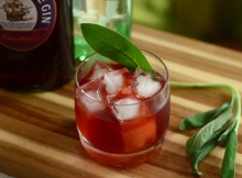 Sage Advice, a sloe gin cocktail